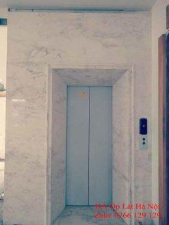 Đá ốp thang máy trắng hy lạp đẹp