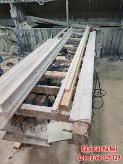 Gia công phào chỉ đá marble ốp thang máy tại xưởng