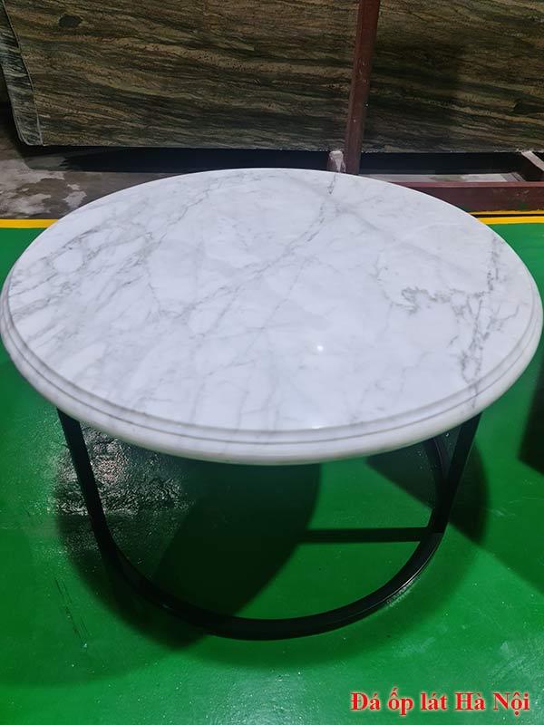 Bàn tròn mặt đá marble