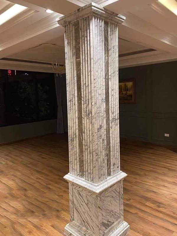 Cột ốp đá đẹp tại công trình