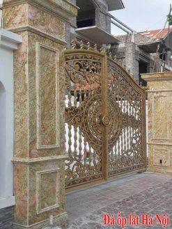 Đá vàng hoàng gia ốp cột cổng