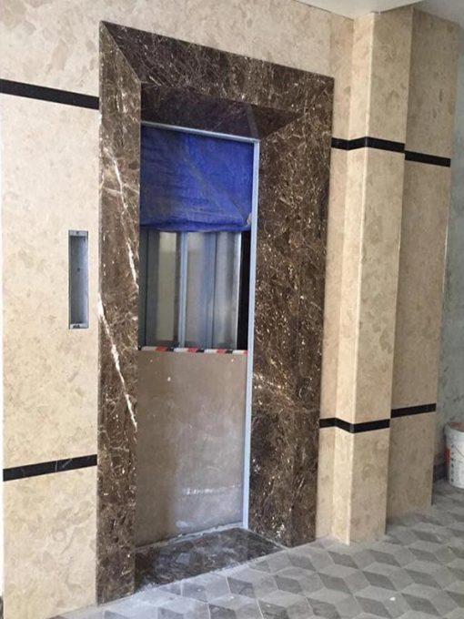 Đá ốp tường mặt tiền thang máy đẹp